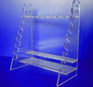 有机梯形吸管架